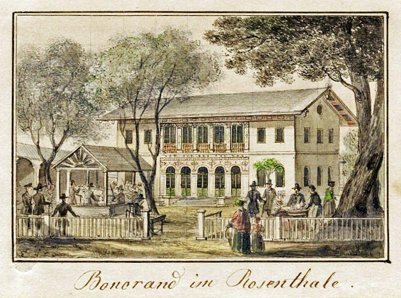 Das Bonorand im Leipziger Rosental um 1850