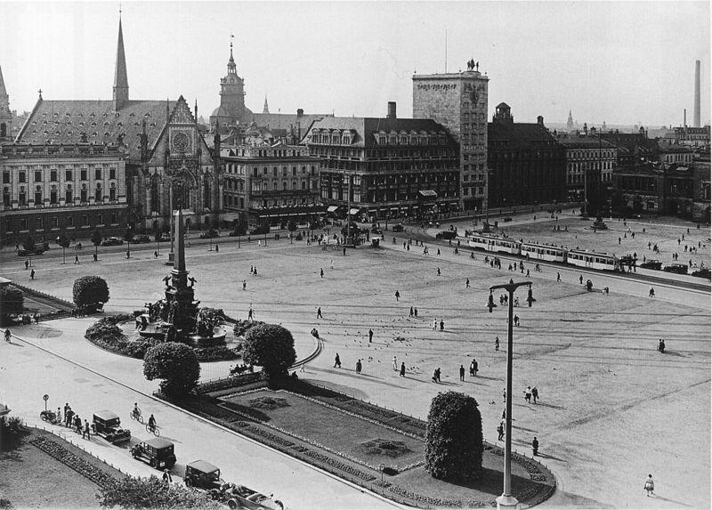 Leipzig - Augustusplatz (um 1930)