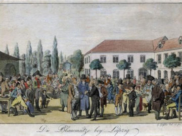 Blaue Mütze in Leipzig 1805