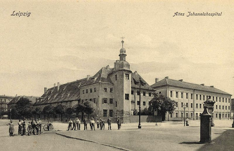 Altes Johannishospital, historische Postkarte
